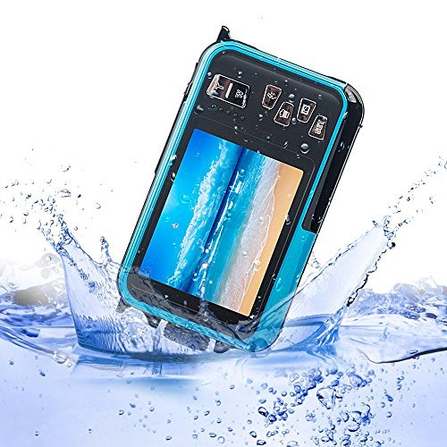 MAGENA Waterproof Digital Video Camera 24.0MP 16X Digital Zoom HD1920x1080 Dual color Screens For Selfie (Blue) [並行輸入品]   B07FQ6BZ64