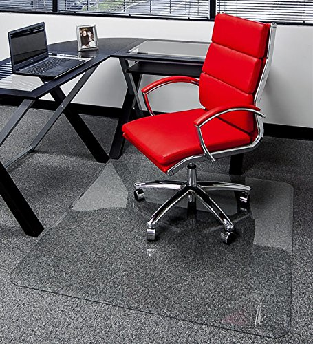 40 x 60 – Premium Glass Chair Mats No Crack, Dent or Scratch For Carpet or Hard Floor Exclusive Beveled Edges