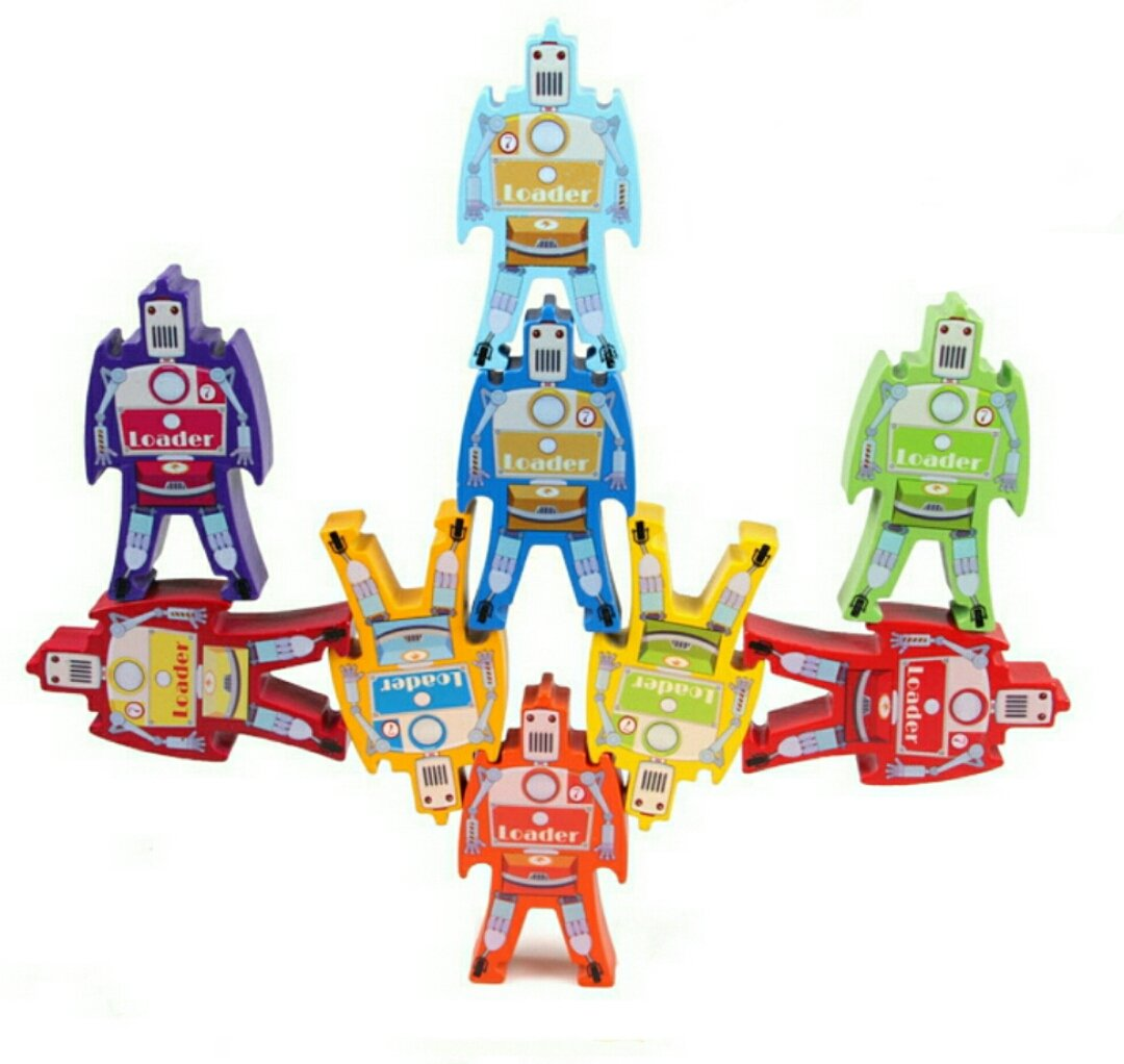 【第1位獲得!】 Wekom 9 Wooden Stacking Wekom Robot Toys Toys - Set of 9 B074N6SRT5, サキトチョウ:a4c51ea7 --- dou13magadan.ru