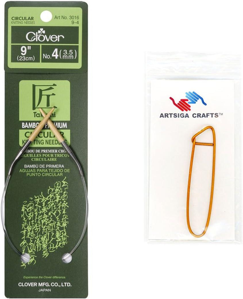 9-Inch Size 7 Bamboo Circular Knitting NeedlesTakumi
