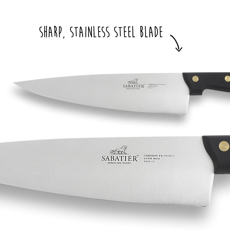 Amazon.com: Sabatier Cuchillo Bolsa 5 Cuchillos Cocina ...