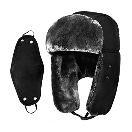 22e767d1afd Amazon.com  Netursho Unisex Winter Trapper Hat