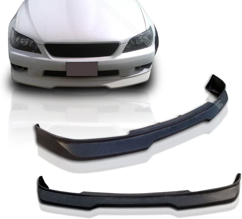 AMS Style PU Poly Urethane Unpainted Black Guard Protection Finisher Under Chin Spoiler by IKON MOTORSPORTS Front Bumper Lip Fits 2001-2005 Lexus IS300 2002 2003 2004