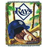 "The Northwest Company MLB Tampa Bay Rays Home Field Advantage Woven Tapestry Throw, 48"" x 60"""