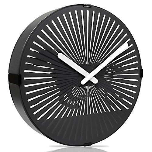 Betus [Non-ticking 12 Inches Animated Wall Clock - Modern Silent Decorative Wall Clock for office, Bedroom and Living Room - Battery Operated - Galloping (Animated Victorian Horse)