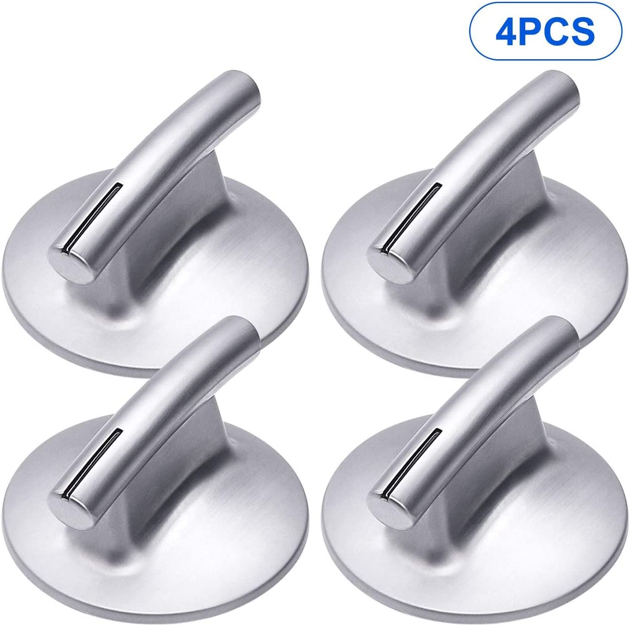 [Upgraded] 74010839 Cooktop Burner Knob Compatible with Whirlpool Range,4 Pack Replacement Part for 7737P372-60, PS11744413, WP74010839VP