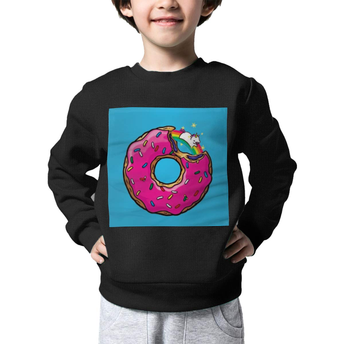 Rainbowhug Rainbow Donut Unicorn Kids Sweater Cute Warm Sweater Toddler for Girls Boys