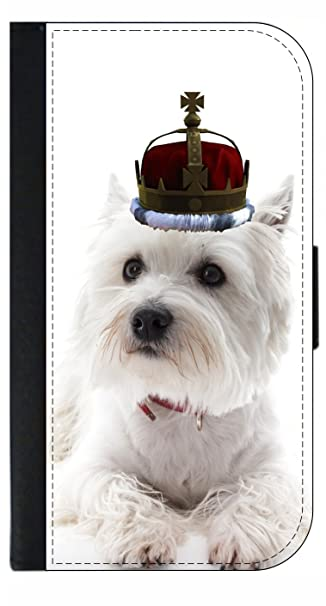 Amazoncom White Yorkie Puppy In A Crown Passport Protector