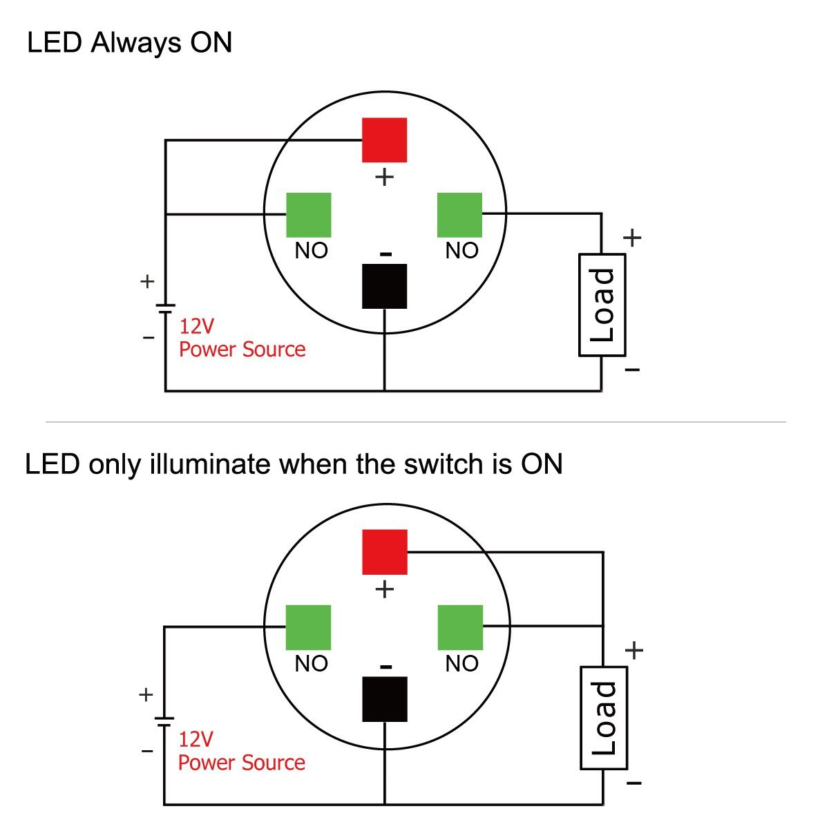 Push Button Wiring Diagram : Wiring a push button switch v auto electrical