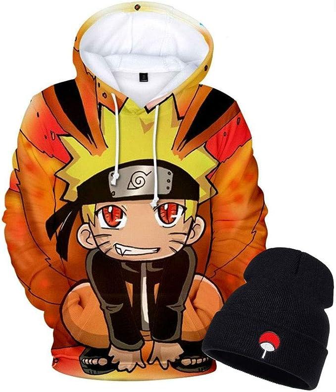 Amazon.com: Sleek Neek Naruto Anime Hoodie Pullover ...