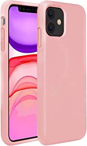 Compatible with iPhone 11 PRO MAX 6.5 Inch 2019 case,Mobile Liquid Silicone Case with Microfiber Lining,Matte Finish Coating Grip Slim Fit Shock-Absorption Bumper-Pink