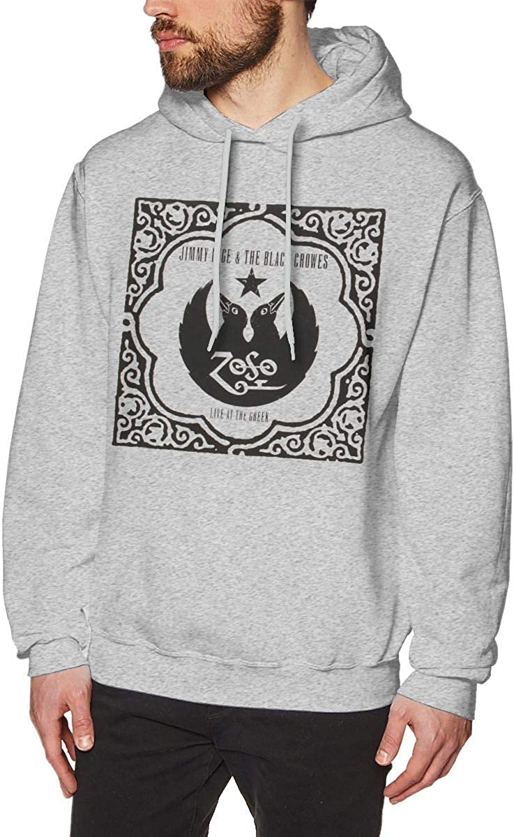 LANDONL Mens Black Crowes Live at The Greek Hoodies Sweater Gray