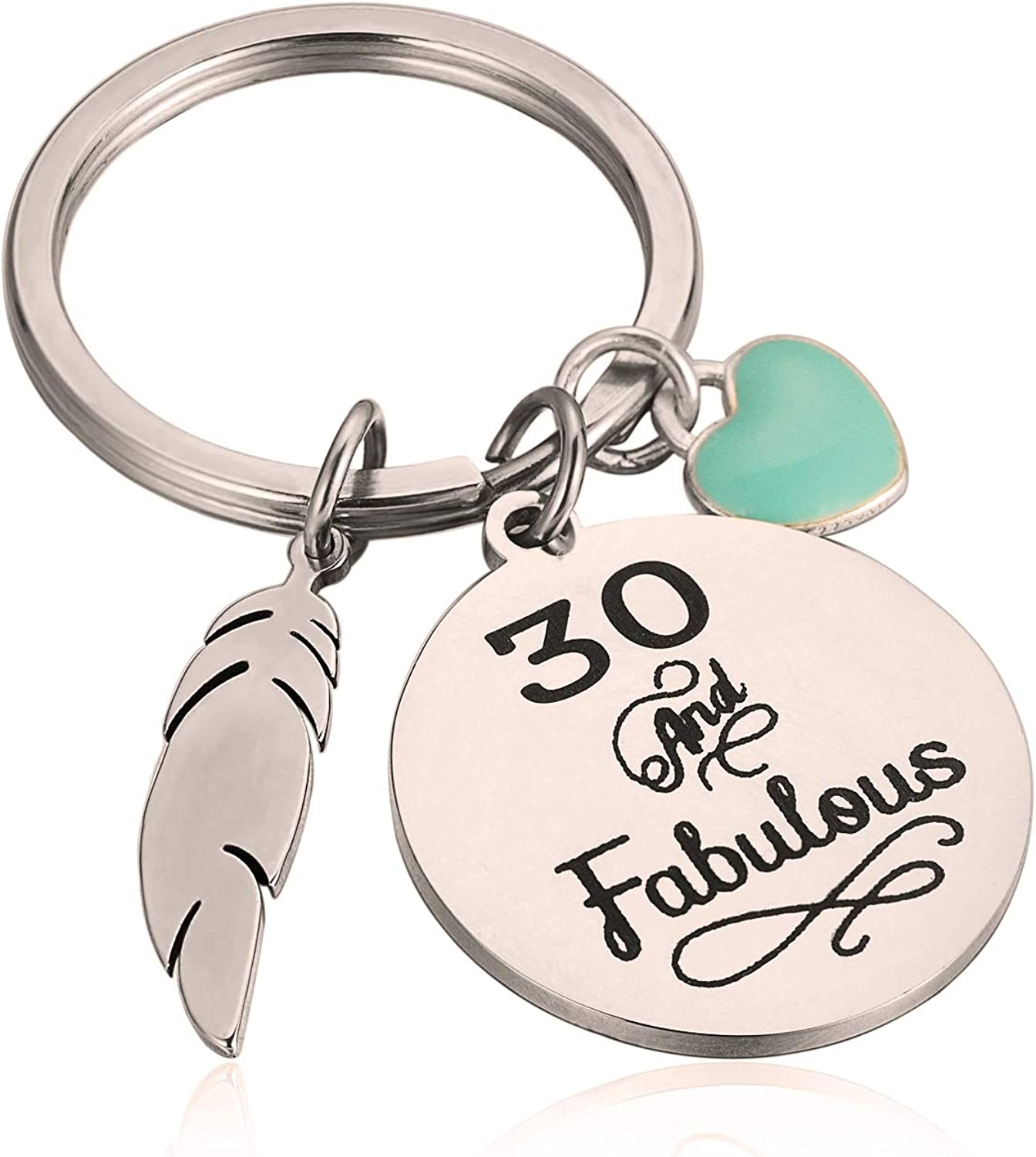 Happy 30th Birthday Gifts 30th Birthday Keychain Gifts for Friends Family 30 Year Old Birthday Presents Turning 30 is a Milestone That Allows You to Feel More Confident