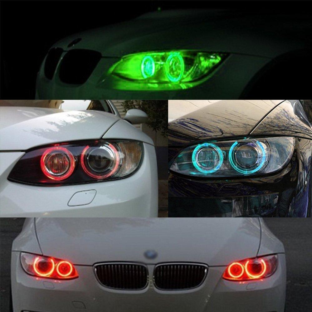 2pcs High Power Error Free RGB Multi-Color E90 LED Angel Eyes Halo Light Bulbs for BMW 328i 335i 325i 330i 335