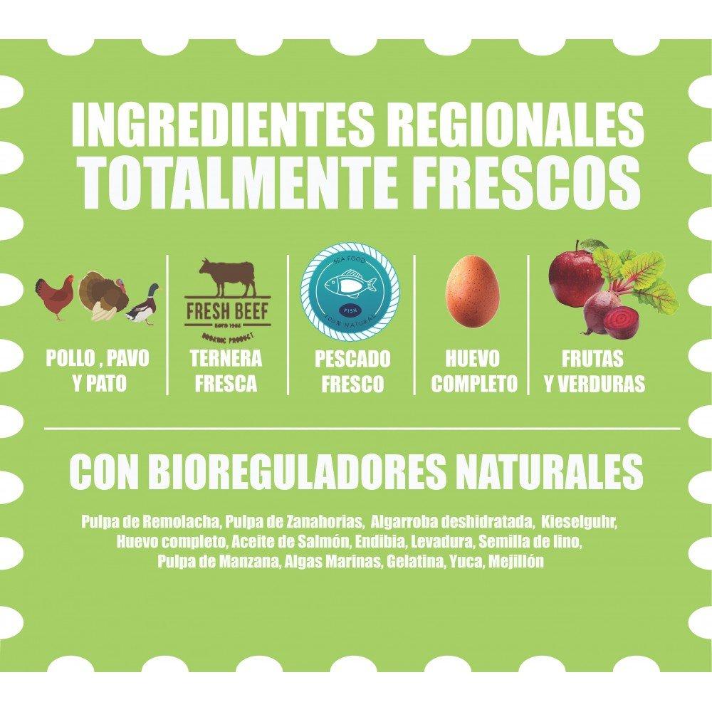Organic Grosser Hund 16Kgs/ Pollo Campero, Pavo, Pato, Verduras, Huevo, Manzanas y Aceite de Salmón!: Amazon.es: Productos para mascotas