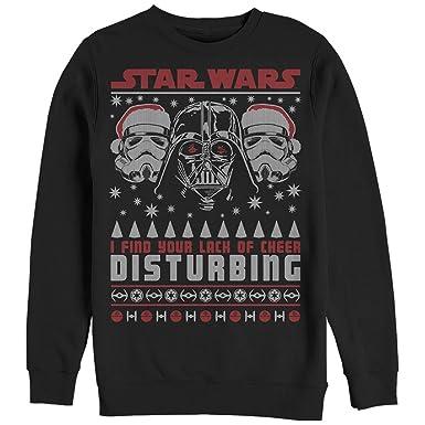 star wars mens lack of cheer ugly christmas sweater black sweatshirt - Star Wars Ugly Christmas Sweater