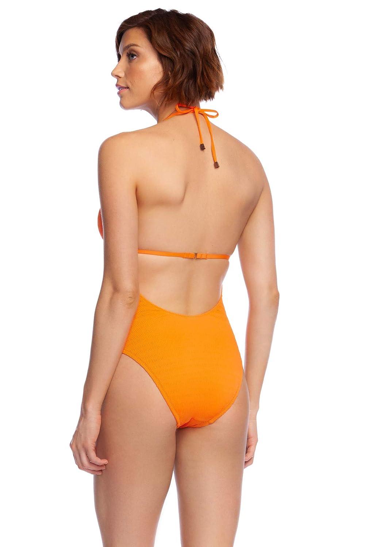 ed5837d9b Amazon.com: Trina Turk Women's Cabana Solids V-Plunge One Piece Swimsuit: Trina  Turk: Clothing