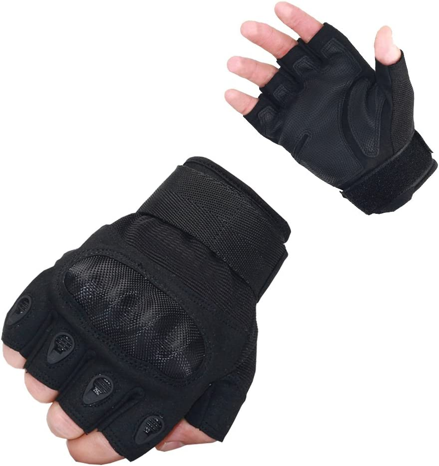 Tactical Gloves Military Gloves Fingerless Half Finger Gloves for Cycling UB