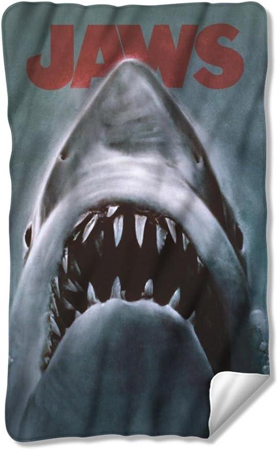 JAWS SHARK FLEECE THROW BLANKET 36X58