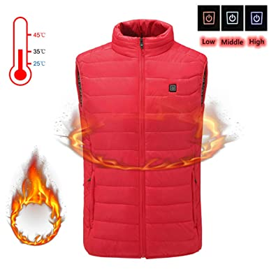 Heating Clothes Amazon Com >> Alexsix Mens Jacket Usb Heated Electric Vest Sleeveless Winter Warm