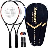 Senston Tennis Racket-27 inch 2 Players Tennis Racket Professional Tennis Racquet,Good Control Grip,Strung with Cover…