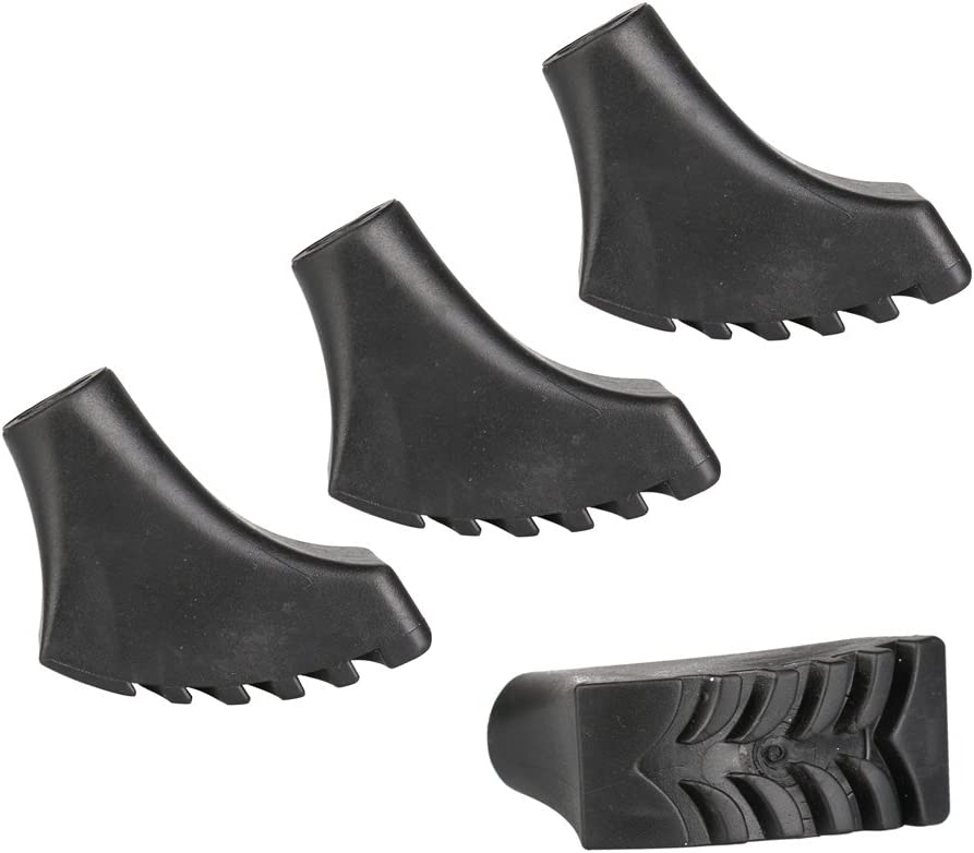 Fits All Standard Hiking and Walking Poles VigorIA 4pcs Durable Rubber Replacement Tips for Trekking Poles