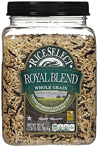 Rice Select Royal Blend, Whole Grain Texmati Brown & Wild Rice with Soft Wheat & Rye Berries, 28-Ounce Jars (Pack of 2) by RiceSelect