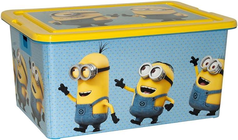 ColorBaby - Caja ordenación 35 litros, diseño minions (76617): Amazon.es: Juguetes y juegos