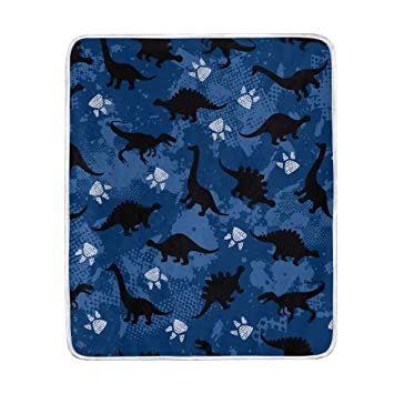 Amazon.com  Dinosaur Pawprint Cute Throw Blanket for Bed Couch Chair ... f384974062