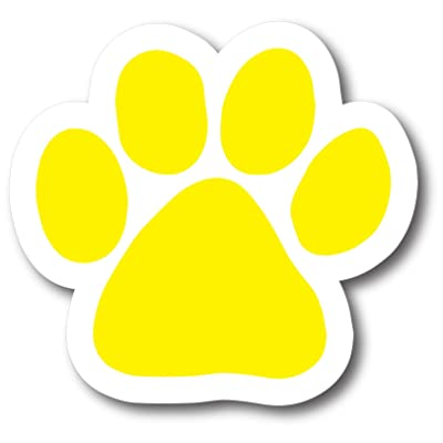 Magnet Me Up Blank Yellow Pawprint Car Magnet Paw Print Auto Truck Decal Magnet: Automotive [5Bkhe2003273]