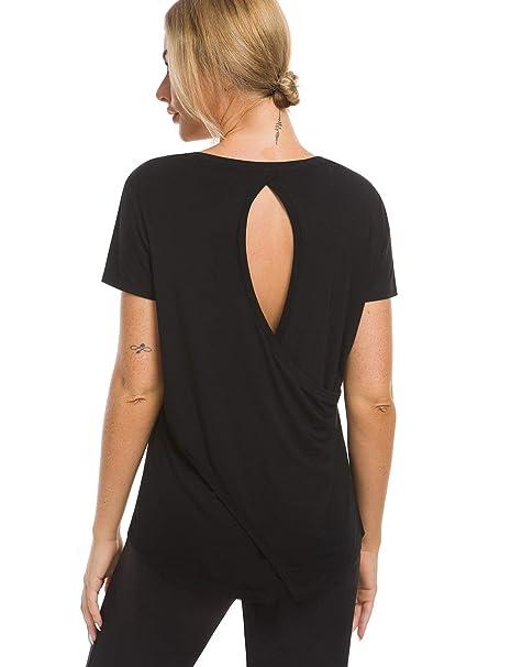 Amazon.com: Camisetas de entrenamiento Bamans para mujer ...