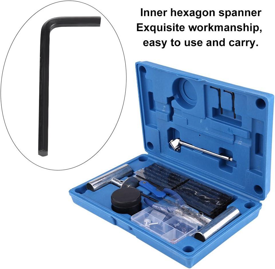 Blue Storage Case GOTOTOP 67PCS Heavy Duty Auto Pneumatico Foratura Riparazione Kit di Attrezzi per Auto Moto Camion