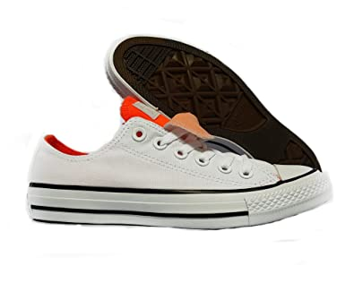b3e3f64ee85c Converse Chuck Taylor All Star OX Double Tongue Sneaker White Hyper Orange  Size 5 Women