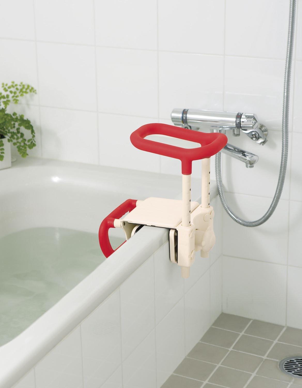 アロン化成 安寿 高さ調節付浴槽手すりUST-165W レッド B001GZHG1Y  レッド