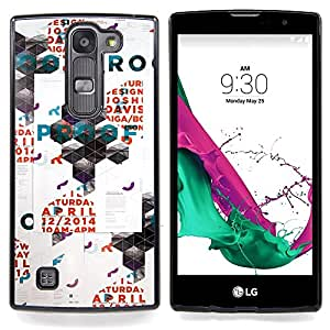 - Polygon Art Poster Wall Rave Event - - Snap-On Rugged Hard Cover Case Funny HouseFOR LG Volt 2 / LG G4 Mini (G4c)
