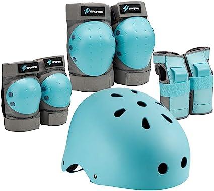 Children Bike Helmet Skateboard Skating Safety Gear Cap With Protective Knee Pad