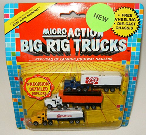 Micro Action Big Rig Trucks 3 Pack Collection #6 (Die Cast Cabover compare prices)