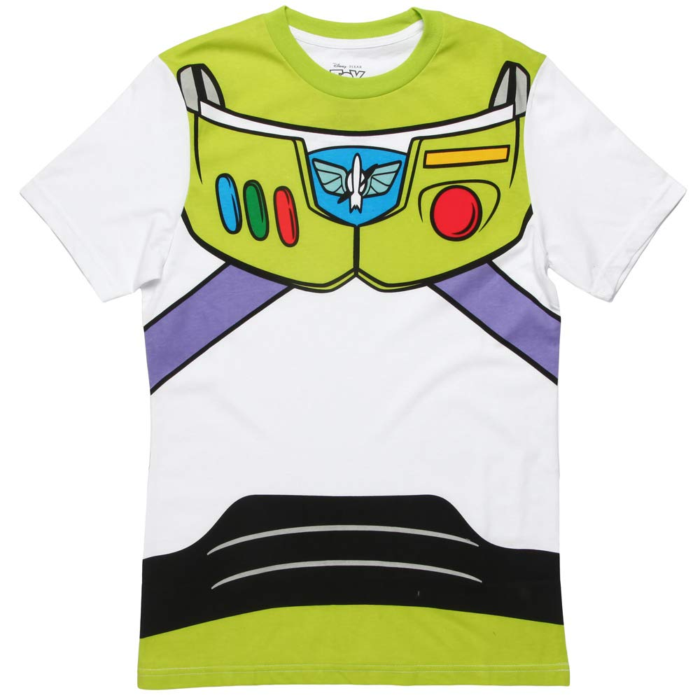 Mighty Fine Buzz Lightyear Costume T-Shirt White (2X-Large)