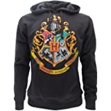Harry Potter SWEAT A CAPUCHE Hoodie Blason ECOLE DE POUDLARD Hogwarts 4 MAISONS - 100% Officiel WARNER BROS