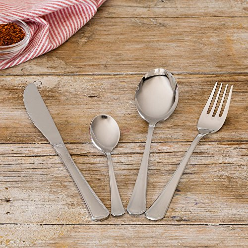 Monix Venecia - Set de cubiertos 113 piezas, cubiertos de acero inox 18/10 con estuche estilo Nogal, cuchillo normal: Amazon.es: Hogar