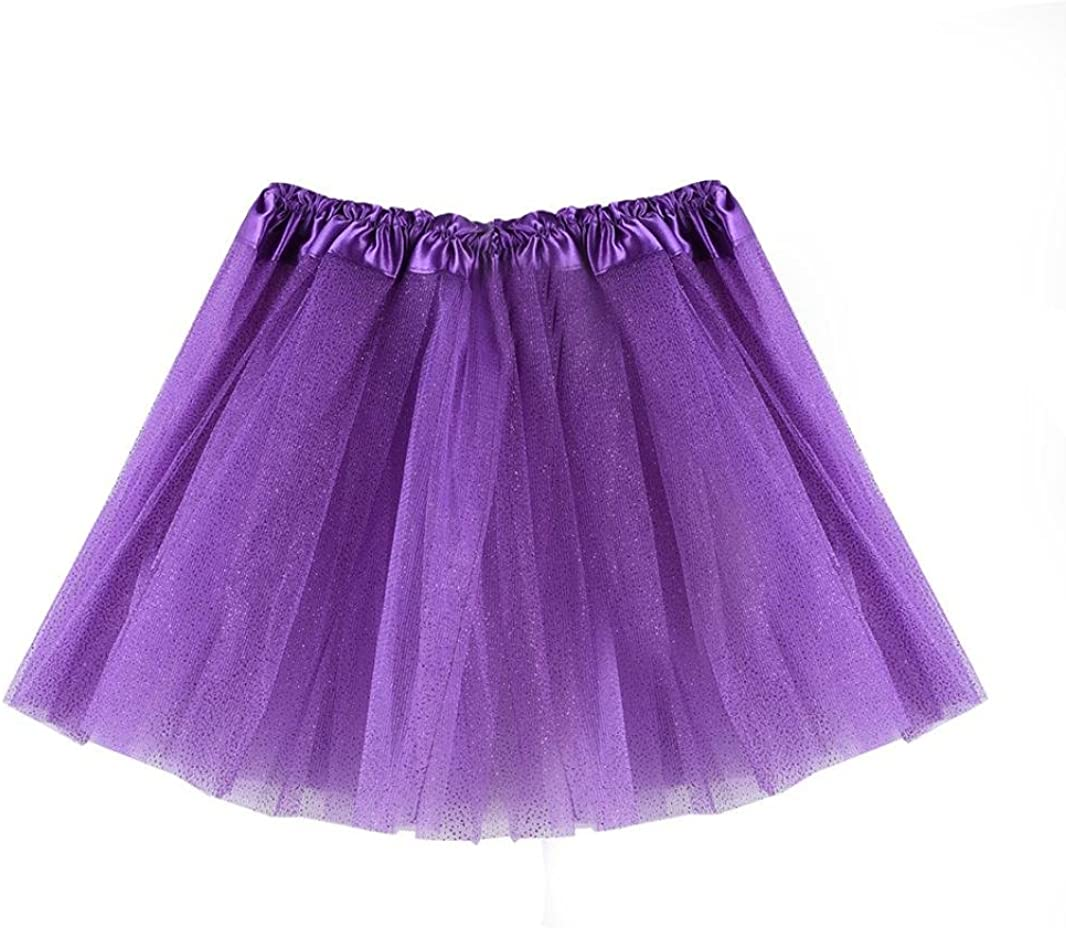 Wanshop Baby Girl Tulle Tutu Princess Skirt Party Dress Dancewear Ballet Dance Ruffle Tiered Tulle Skirts for 3-8 Years Old