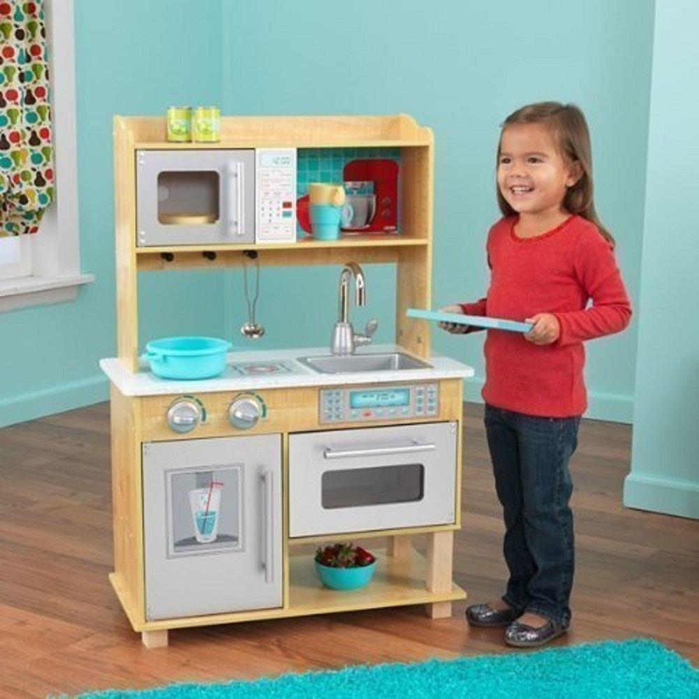 Amazon.com: KidKraft Natural Toddler Kitchen: Toys & Games