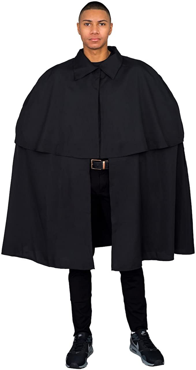 Adult Unisex Victorian Era Sherlock Detective Cloak Cape Coat