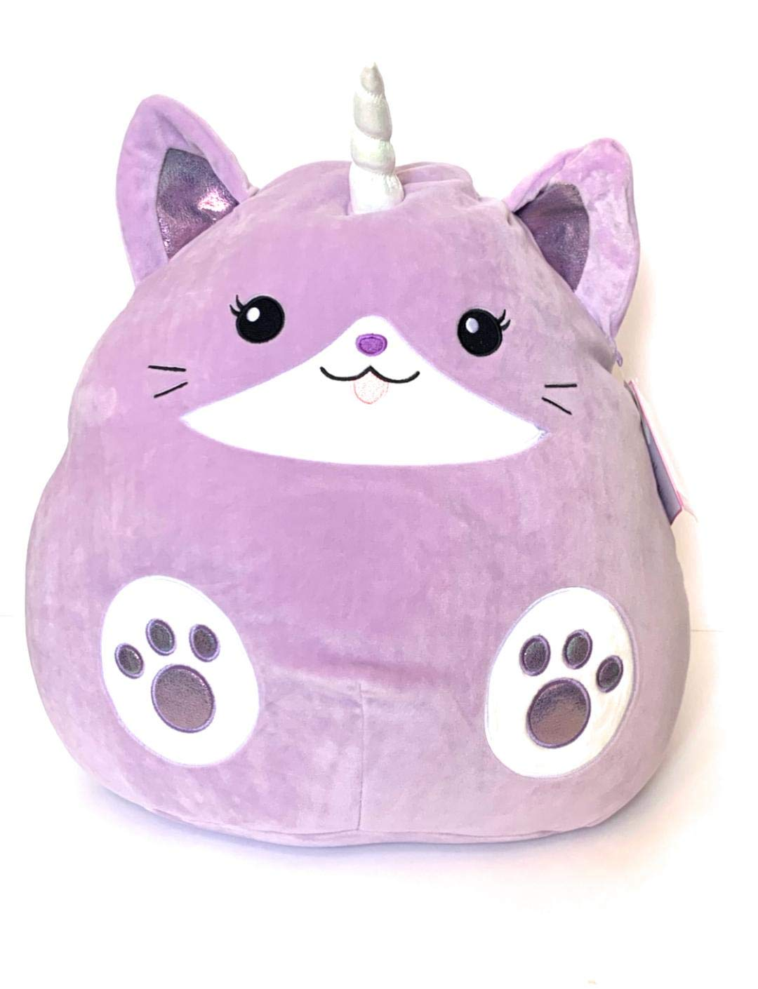 Squishmallows 16'' Justice Exclusive Watermelon Scented Purple Tibby The Caticorn Cat Super Soft Plush Pillow Stuffed Animal