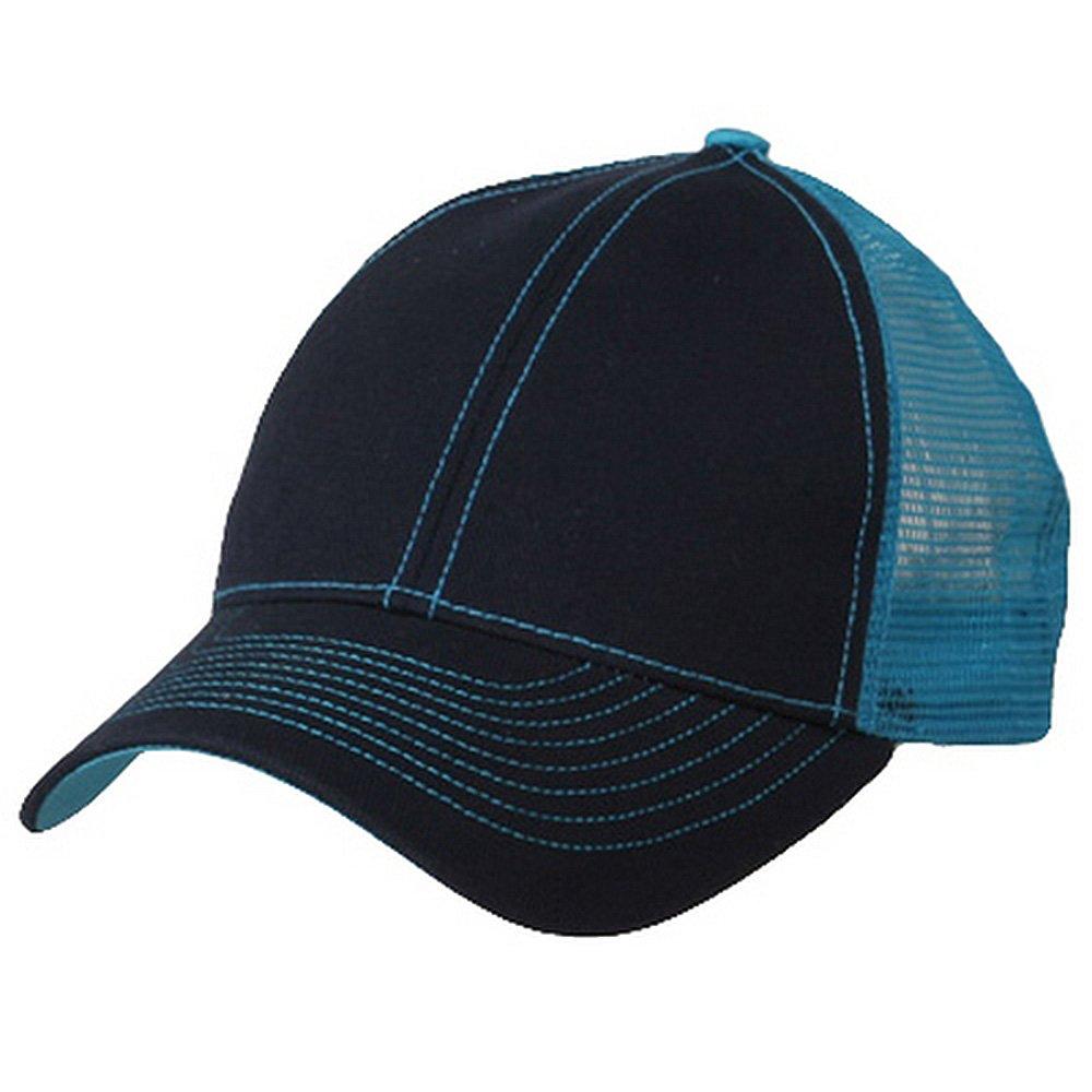 0c833db8d94 Low Profile Structured Trucker Cap-Black White OSFM at Amazon Men s Clothing  store  Baseball Caps