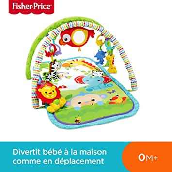Fisher-Price Amis de la Jungle 3-en-1 Tapis d\'Éveil Musical pour ...