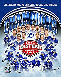 "Tampa Bay Lightning 2015 NHL Eastern Conference Champions Team Photo (Size: 8"" x 10"")"