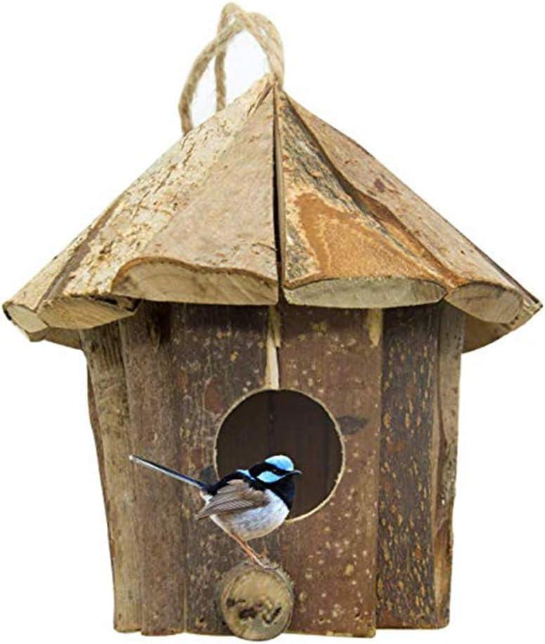 Whiie891203 Juguete de Loros de pájaro, Juguete de Madera para Colgar en el Campo, jardín, Pollo, pájaro, caseta de caseta de casa, decoración del hogar