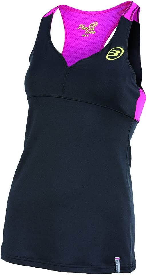 Bull padel Busy - Camiseta de Tirantes para Mujer, Color Negro ...