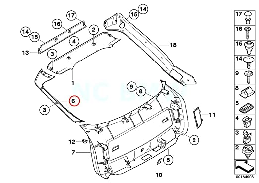 Amazon Com Bmw Genuine Right Panel Tail Lid Automotive